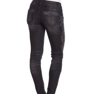 MISS ME Embroidered Skinny Jeans